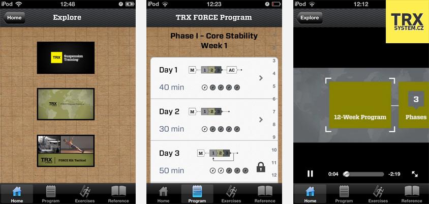 Mobilní aplikace TRX Force