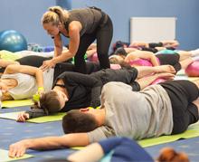 Fitness školení cviky na záda
